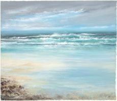Watching the Waves as they Dance and Roll over the Sands - oil on paper - 56 x 65cm - £2,450.00