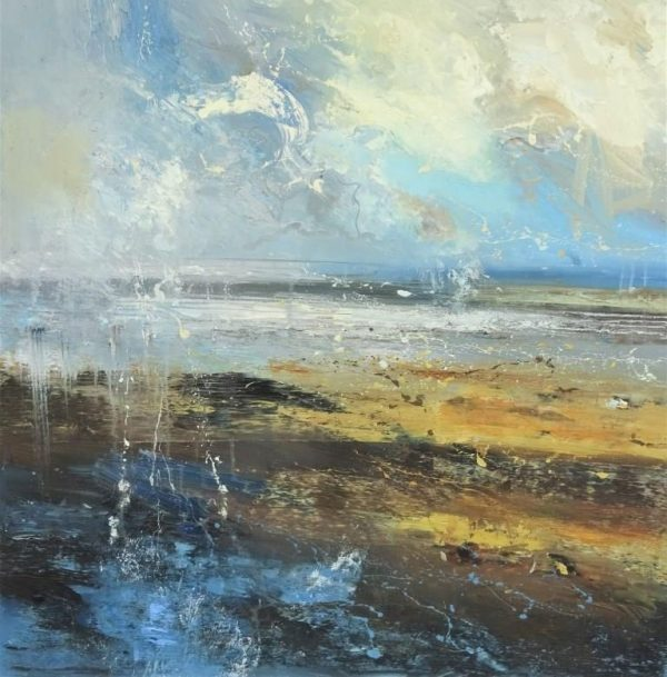 Absorbed in the horizon 100x100cm