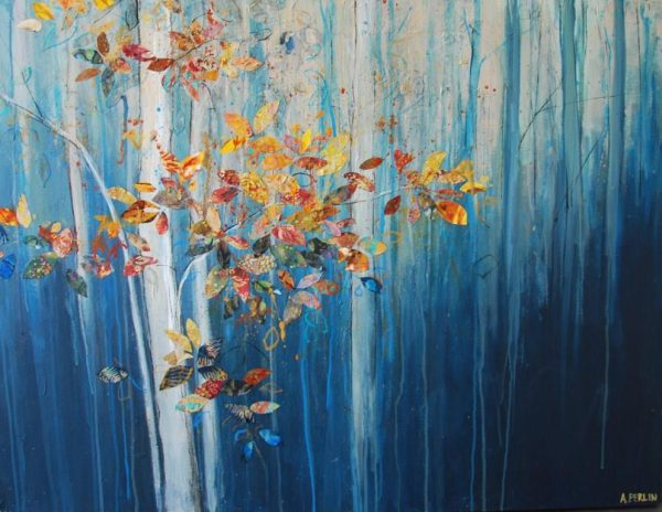 Falling Leaves 76x102cm £2500 Anna Perlin