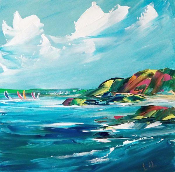 Jan Nelson - Hope Cove 40x40cm