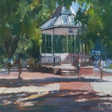 Roger Dellar 'The bandstand, Dartmouth' 30x30 £695