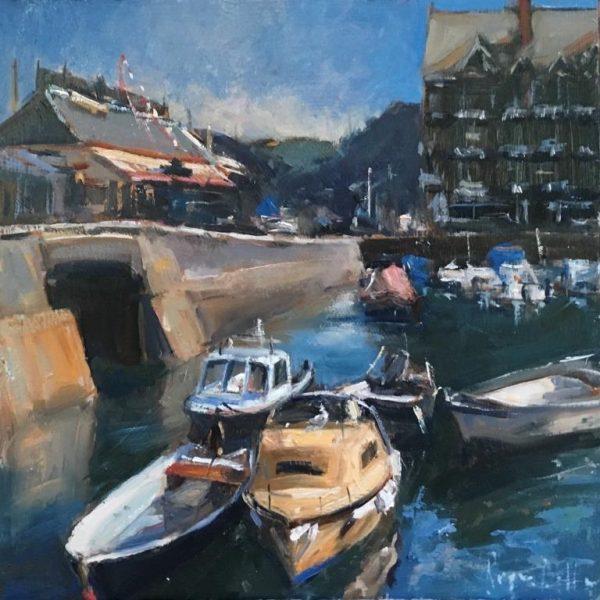Roger Dellar 'The Quay, Dartmouth' 30x30 £695