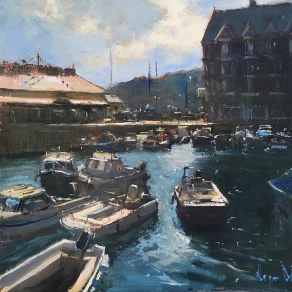 Roger Dellar 'The Quay, Dartmouth' 40x40 £895