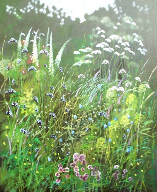 Dylan lloyd Island summer garden 80x100 £1600