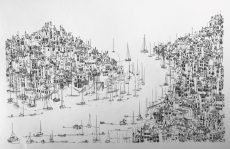 "Kate Barker ""From Dartmouth To Kingswear"" 34cm x 54cm"