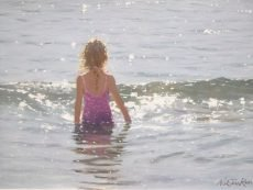 NSJR Girl in a sparkling sea 40x30 £1500