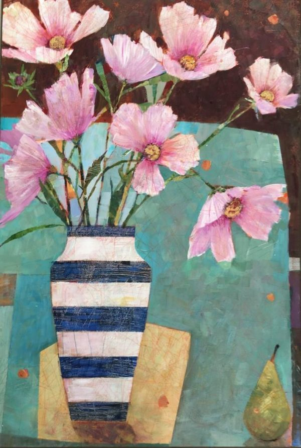 SAF Garden Flowers in Cornish Ware Vase 36 x24 in £1085