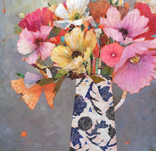 SAF Wednesdays Flowers Framed 24 x24 in £845