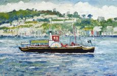 Simeon Stafford DArtmouth Paddle Boat 76x51 £2500