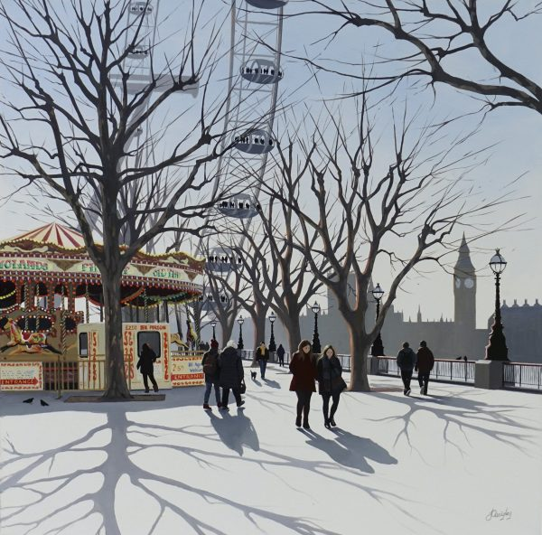Jo Quigley The Golden Carousel 76x76 £1895