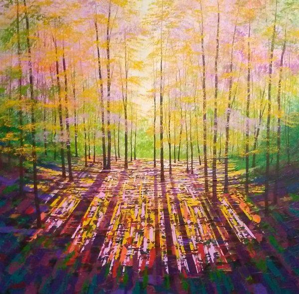 A Timeless Place acrylics on canvas 76x76cms £950