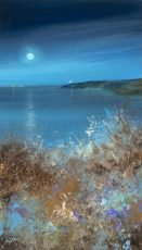Amanda Hoskin Moonlight Colours, Start Point....oil on paper...37 x 21cm ...£750.00