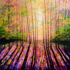 Forest of Rainbows acrylics on canvas 76x76cms £950