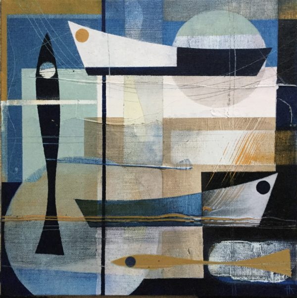 Moored up. 30 x 30.Heidi Archer £450