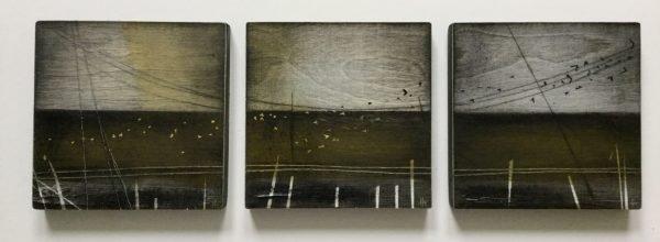 Triptych. 3 x 15cm. Heidi Archer £250