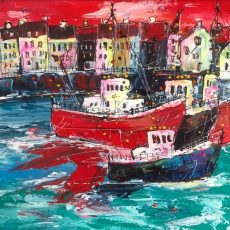 Martin John Fowler Harbourside 50 x 50 cms 2