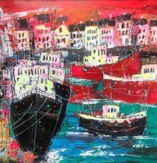 Martin John Fowler Harbourside West 59 x 59 cms 1