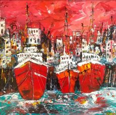 Martin John Fowler Summer Tide 50 x 50 cms 1