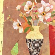 Sally Anne Fitter Pear and Japanese Flowers 24x24 in £845