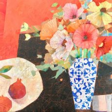 Sally Anne Fitter Pomegranates and the Ebony Table 30x30in £1145