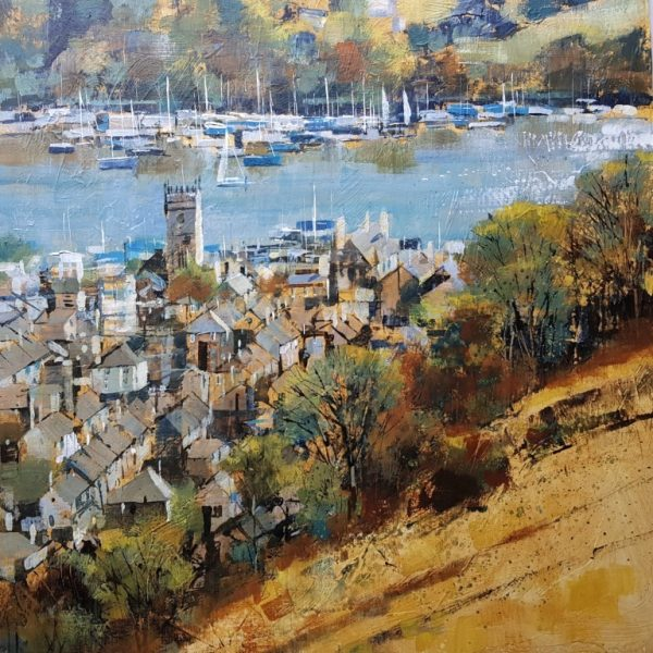 Chris Forsey ACROSS THE MEADOW, DARTMOUTH 60X60 board £1400