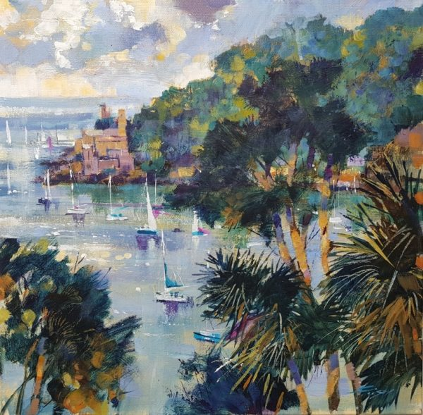 Chris Forsey Across to Dartmouth Castle,canvas 50x50 £1250