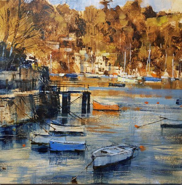 Chris Forsey Autumn arrival, Warfleet 1 canvas 50 x 50 £1250