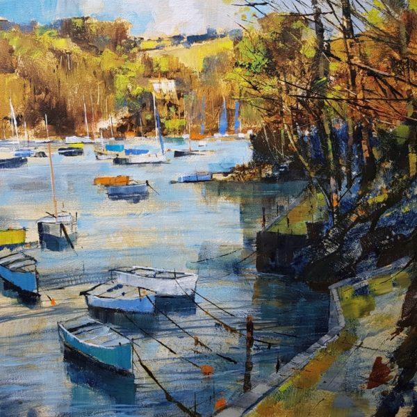 Chris Forsey Autumn arrival, Warfleet 2. canvas 50x50 £1250