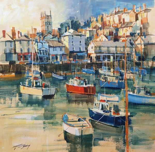 Chris Forsey Brixham Harbour, paper, 42x41 £950