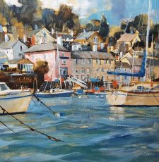 Chris Forsey Dittisham from the ferry 51x51 canvas £1250