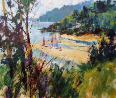 Chris Forsey Down to the beach, Mill Bay 45 x45 paper £950