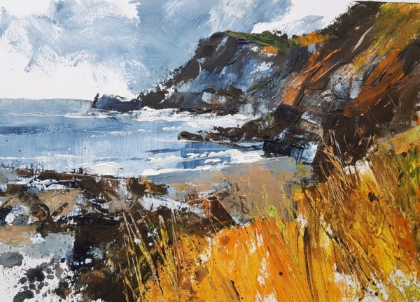 Chris Forsey Down to the cove 35x25 paper £750