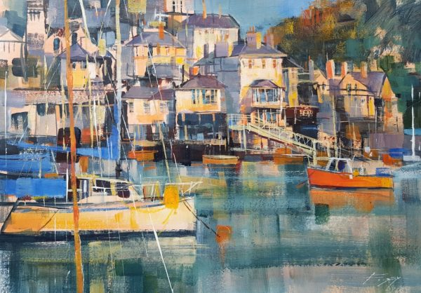 Chris Forsey Evening sunshine, Kingswear 45x 35 paper £895