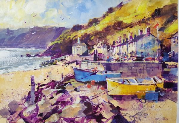 Chris Forsey Golds and violet, Beesands 40x30 paper £795