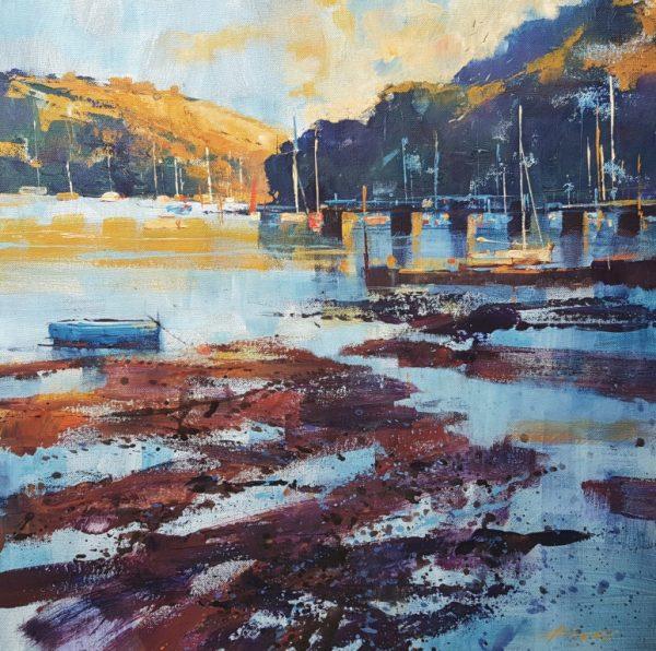 Chris Forsey Later summer evening, Dittisham 51x51 canvas £1250