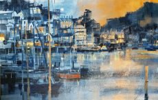Chris Forsey Moonrise over Kingswear 75 x 50 canvas £1500