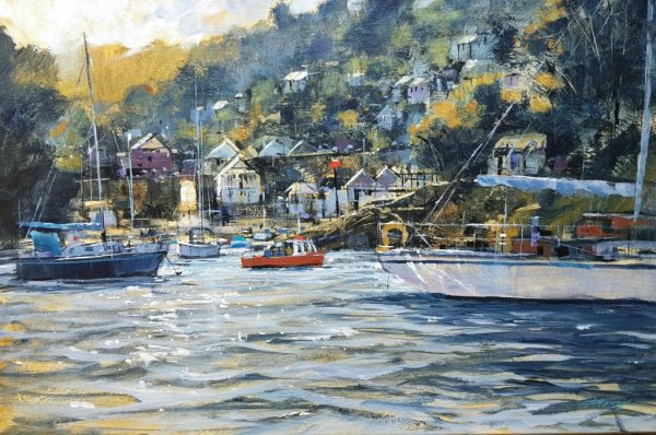 Chris Forsey PASSING FERRY, WARFLEET 75X50 canvas £1500