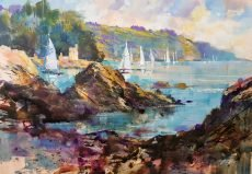 Chris Forsey Passing Kingswear Castle 45x32 paper £895