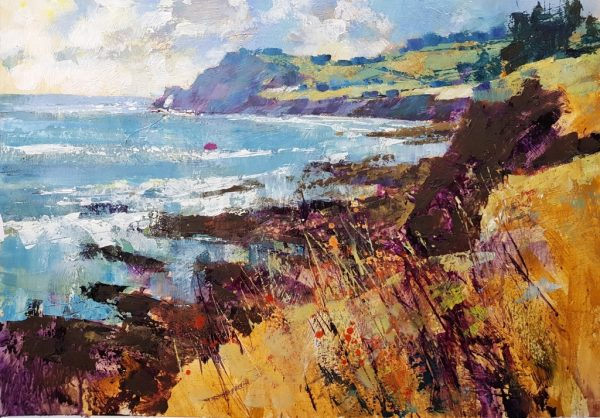 Chris Forsey Prawle point from Wollow Cove 60x40 paper £1200