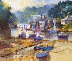 Chris Forsey Regatta time, Newton Ferrers 45x45 paper £950