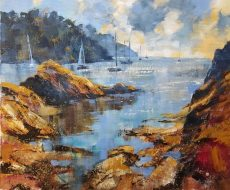 Chris Forsey Returning flotilla. 60x50 canvas £1350