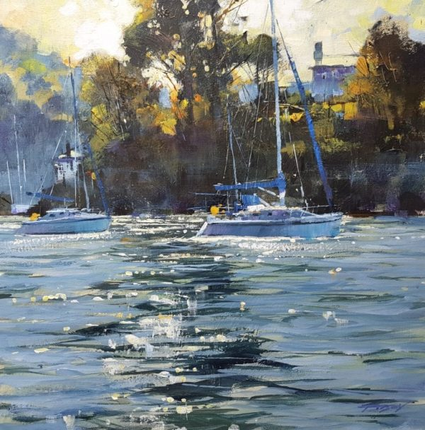 Chris Forsey Returning to Dartmouth 51x51 canvas £1250