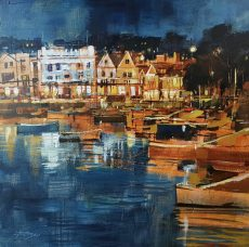 Chris Forsey SPARKING LIGHTS, DARTMOUTH HARBOUR canvas 50x50 £1250