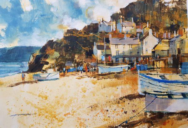Chris Forsey September sunshine, Torcross 45x35 paper £895