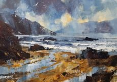 Chris Forsey Showers and sunshine, Sunny Cove 35x28 paper £695