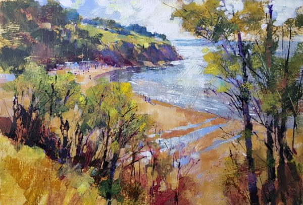 Chris Forsey Spring at last, Blackpool Sands 60x40 paper £1200