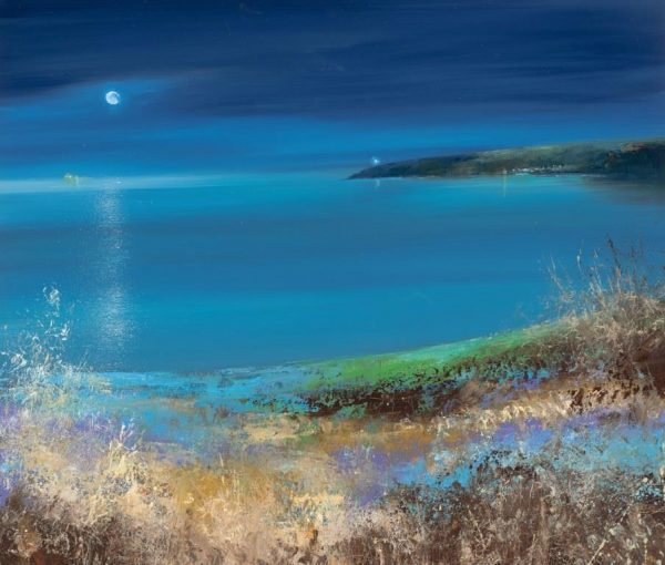 Midnight Colours, Start Point...oil on paper....45 x 53cm....£1,495.00