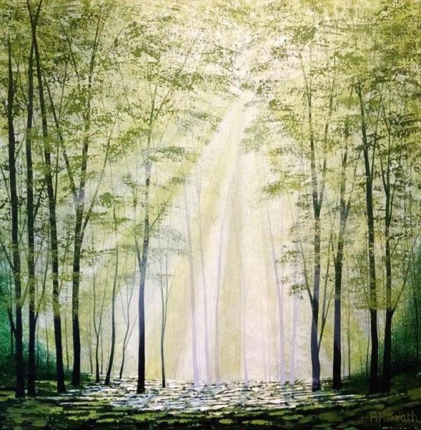 """""""Sunlight Harmony"""" Amanda Horvath acrylics on canvas 61x61cms £650"""