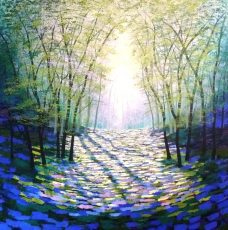 Following the Light Amanda Horvath acrylics on canvas 90x90cms £1395