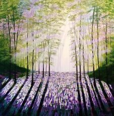 Forest of Hope acrylics on canvas 90x90cms £1395